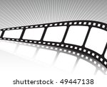 vector film background twisted | Shutterstock .eps vector #49447138