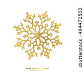 Gold Glitter Texture Snowflake...