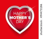 happy mothers day vector heart | Shutterstock .eps vector #494473186