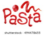 "the word ""pasta"" written with... 