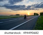 motion blur motorcycle riding... | Shutterstock . vector #494490682