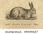 antique easter background ... | Shutterstock .eps vector #49449637