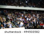 blurred background of crowd of... | Shutterstock . vector #494503582