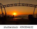 gold coast  surfers paradise  ... | Shutterstock . vector #494504632