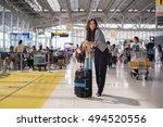 asia woman at international...   Shutterstock . vector #494520556