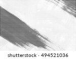 grunge distressed halftone... | Shutterstock .eps vector #494521036