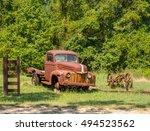 old truck | Shutterstock . vector #494523562
