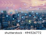 smart city internet of things... | Shutterstock . vector #494526772