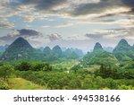 lijiang china guilin panorama | Shutterstock . vector #494538166