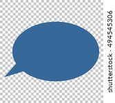 message cloud vector icon.... | Shutterstock .eps vector #494545306