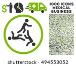 moving men icon with 1000... | Shutterstock .eps vector #494553052