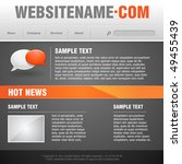 website template. vector... | Shutterstock .eps vector #49455439