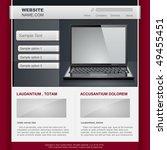 website template. vector... | Shutterstock .eps vector #49455451