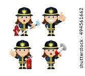 cute set   set of firefighter   Shutterstock .eps vector #494561662