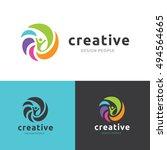 creative people logo template. | Shutterstock .eps vector #494564665