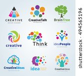 people creative idea logo set | Shutterstock .eps vector #494565196