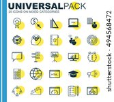 set of universal icons on... | Shutterstock .eps vector #494568472