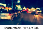 vintage tone image of blur... | Shutterstock . vector #494575636