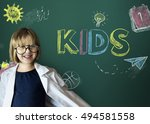 study ideas learn kids concept   Shutterstock . vector #494581558