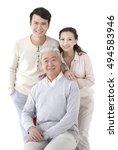 the oriental family   Shutterstock . vector #494583946