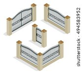 Vector Isometric Gate. Gate...