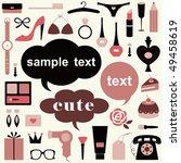 vector girl set | Shutterstock .eps vector #49458619