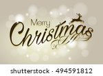 merry christmas vector... | Shutterstock .eps vector #494591812