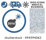 2016 petard icon with 1000... | Shutterstock .eps vector #494594062