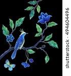 decorative bird  songbird... | Shutterstock . vector #494604496