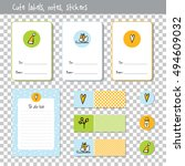 gift cards. note paper  notes ... | Shutterstock .eps vector #494609032