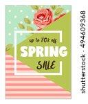 cute seasonal sale flyer... | Shutterstock . vector #494609368