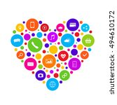 omni channel icon design. e... | Shutterstock .eps vector #494610172