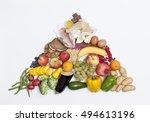 food pyramid | Shutterstock . vector #494613196