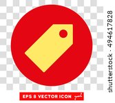 tag round icon. vector eps... | Shutterstock .eps vector #494617828