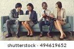 business team working research... | Shutterstock . vector #494619652