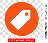 tag round icon. vector eps... | Shutterstock .eps vector #494623942