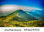 mountain landscape clouds in...   Shutterstock . vector #494629555