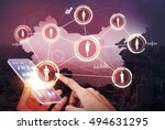 social network of china and... | Shutterstock . vector #494631295