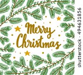 vector christmas background... | Shutterstock .eps vector #494631856