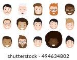 male avatar icons vector set.... | Shutterstock .eps vector #494634802
