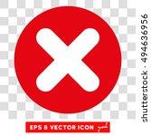 cancel x cross round icon.... | Shutterstock .eps vector #494636956