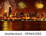 fireworks over chicago | Shutterstock . vector #494641582