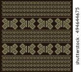 vintage nordic ornament. ethnic ... | Shutterstock .eps vector #494644675
