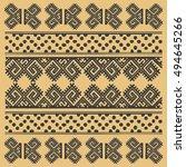 vintage nordic ornament. ethnic ... | Shutterstock .eps vector #494645266