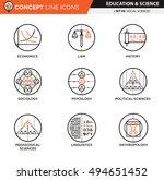 concept line icons. social... | Shutterstock .eps vector #494651452