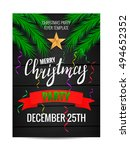 christmas party.merry christmas ... | Shutterstock .eps vector #494652352