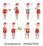 set of santa claus characters... | Shutterstock .eps vector #494667025