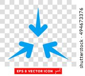 impact arrows round icon.... | Shutterstock .eps vector #494673376