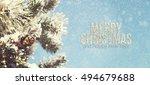 christmas background  | Shutterstock . vector #494679688