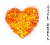 Abstract Shape Of Fire Heart...